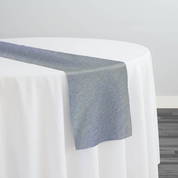 Morocco Jacquard (Reversible) Table Runner in Blue