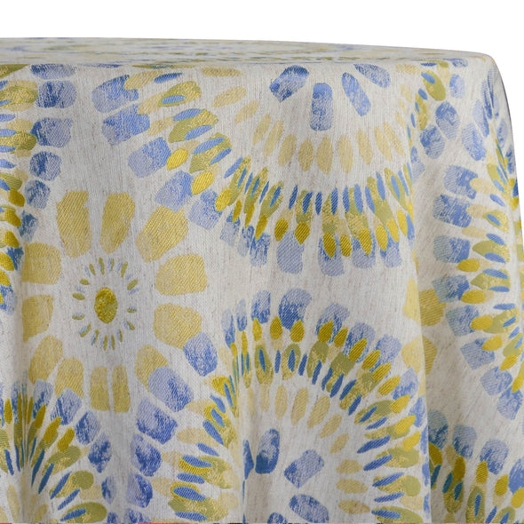 Sundaze Jacquard (Reversible) Table Linen in Yellow and Blue