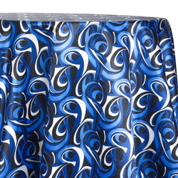Abstract (Pucci) Table Linen in Bluey