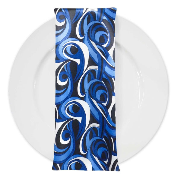 Abstract (Pucci) Table Napkin in Bluey