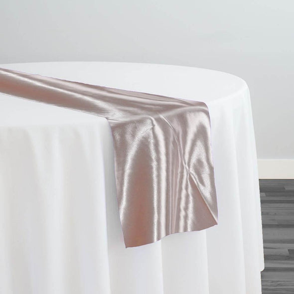 Bridal Satin Table Runner in Blush 075