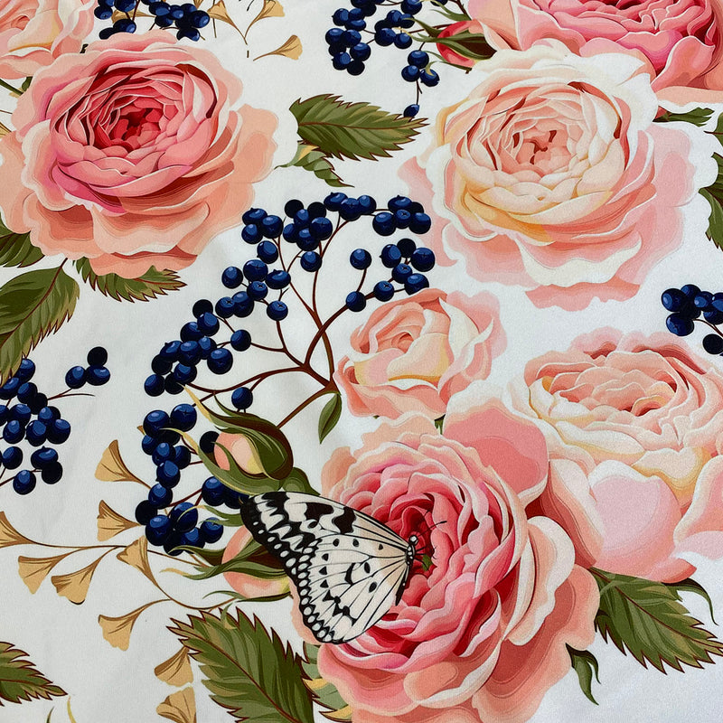 Blush Bouquet (Poly Print) Table Linen