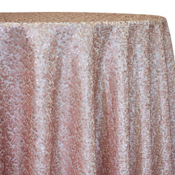 Taffeta Sequins Table Linen in Blush Matte