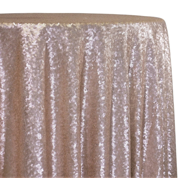 Glitz Sequins Table Linen in Blush Matte