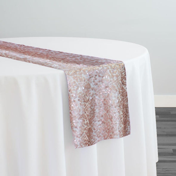 Taffeta Sequins Table Runner in Blush Matte