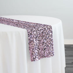 Taffeta Sequins Table Runner in Blush Shiny