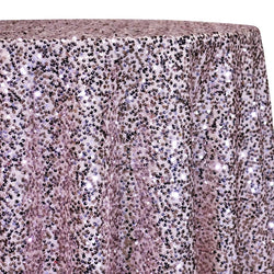 Taffeta Sequins Table Linen in Blush Shiny