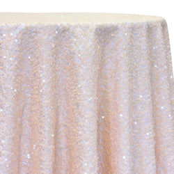 Taffeta Sequins Table Linen in Blush Transparent