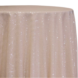 Glitz Sequins Table Linen in Blush Transparent