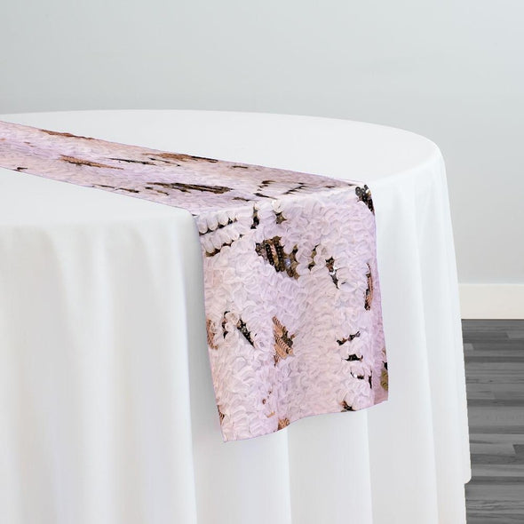 Zenya Sequins Table Runner in Blush