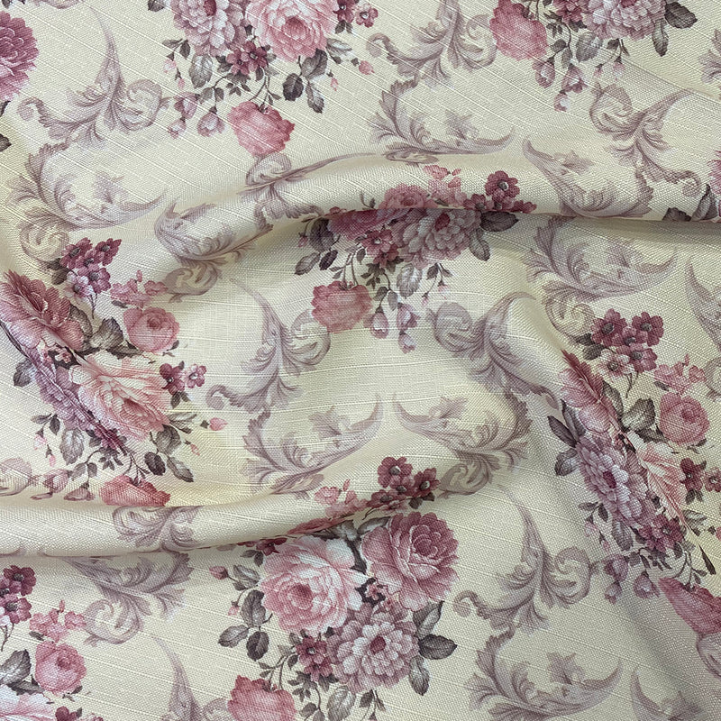 French Floral Wholesale Fabric in Blush