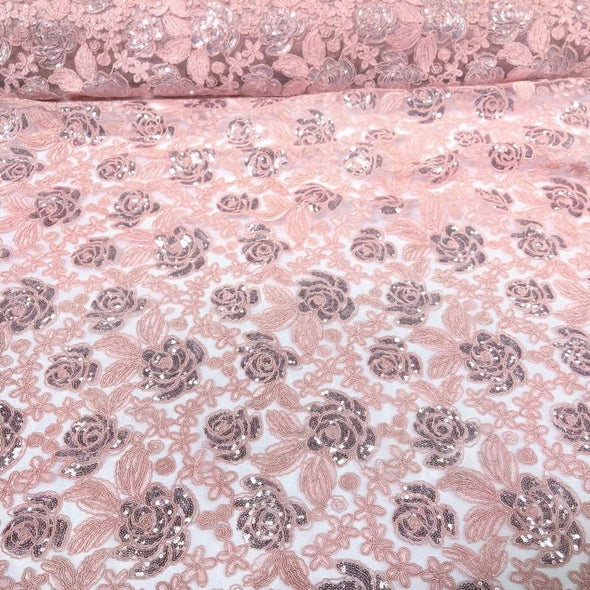 Valentina Lace Wholesale Fabric in Blush