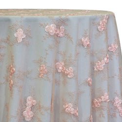 Baby Rose Embroidery Table Linen in Blush