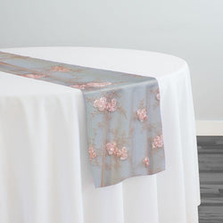Baby Rose Embroidery Table Runner in Blush