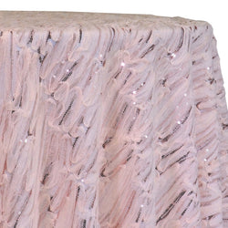 Brilliant Sheer Sequins Table Linen in Blush