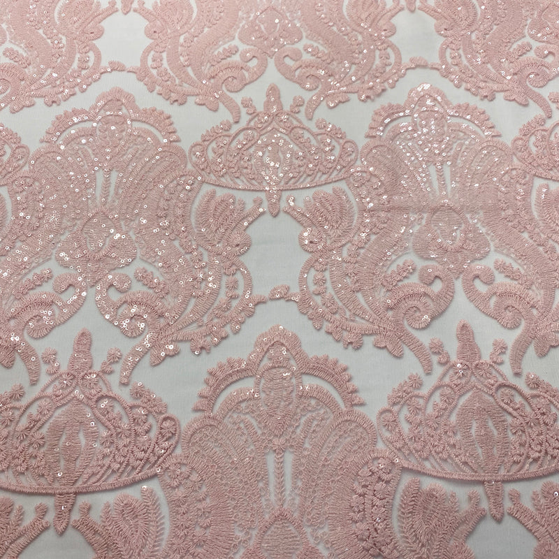 Princess Lace Wholesale Fabric in Blush