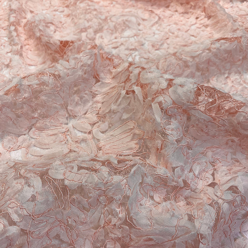 Patina Sheer (w/ Poly Lining) Table Napkin in Blush