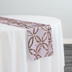 Delano Sequins Table Runner in Blush
