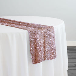 Taffeta Sequins Table Runner in Blush