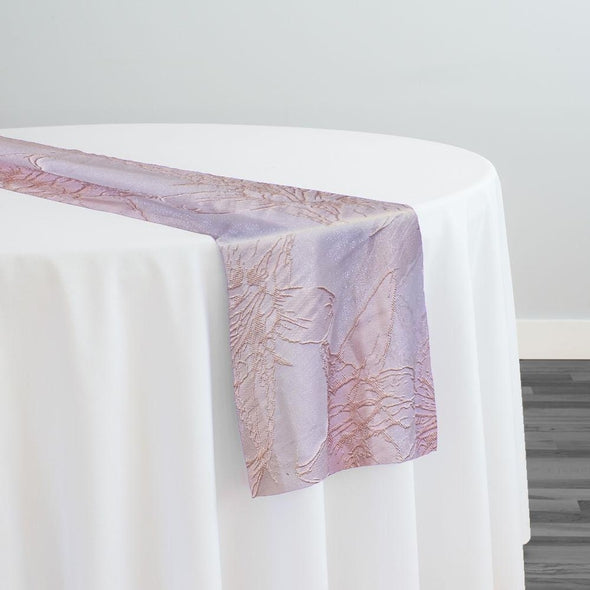 Floral Reef Jacquard Table Runner in Blush