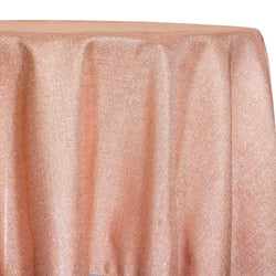 Metallic Burlap (100% Polyester) Table Linen in Blush