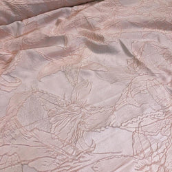 Floral Reef Jacquard Table Linen in Blush