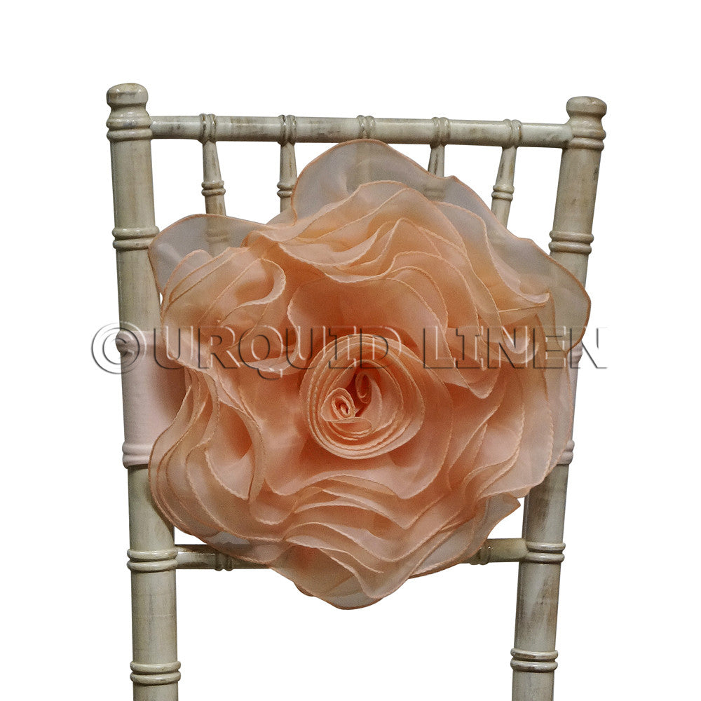 Organza Rosette Bow & Band - Blush