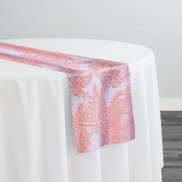 Princess Lace Table Runner in Blush
