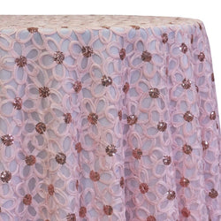 Daisy Sequins Table Linen in Blush