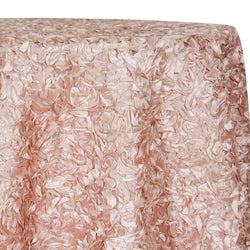Curly Satin Table Linen In Blush