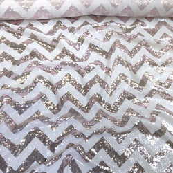 Chevron Glitz Sequins Table Linen in Blush