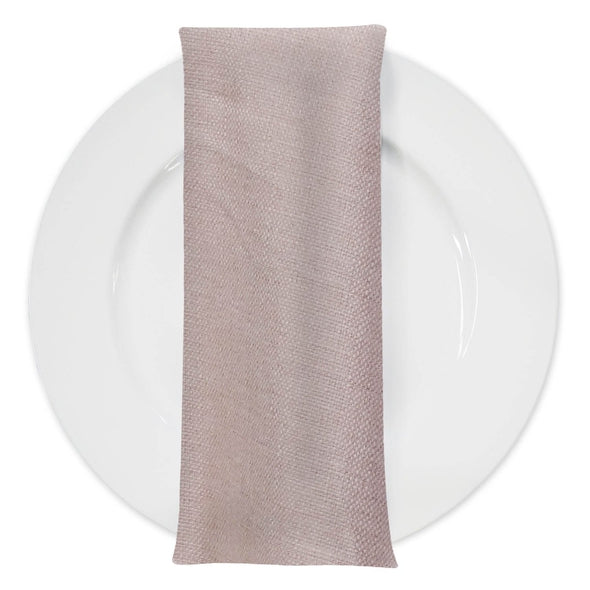 Rustic Linen Table Napkin in Blush