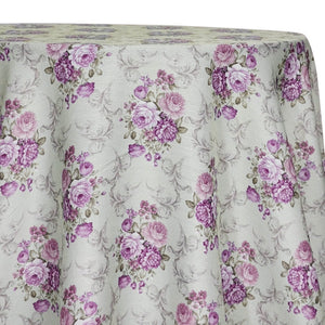 French Floral Table Linen in Blush