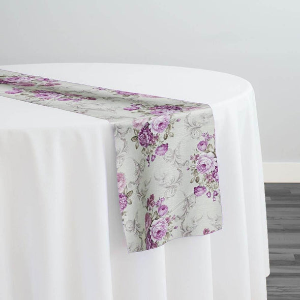 French Floral Table Runner in Blush
