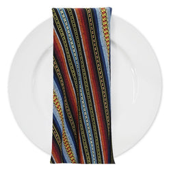 Bohemian Stripe (Knit-Look) Table Napkin