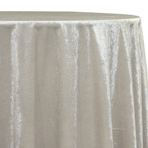 Lush Velvet Table Linen in Bone