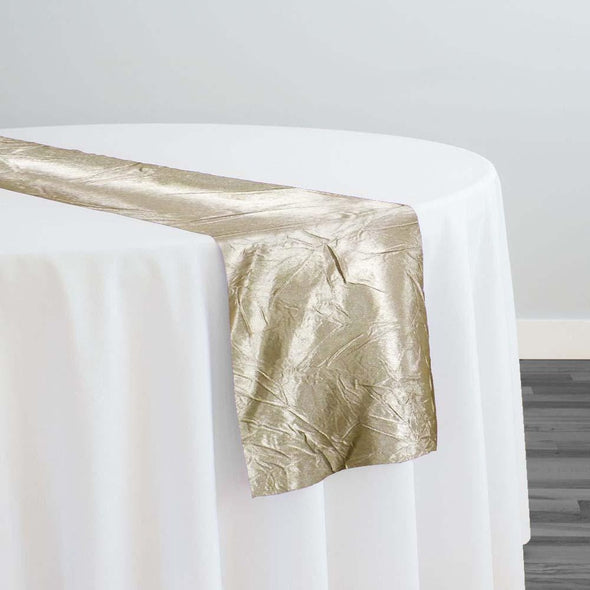 Crush Satin (Bichon) Table Runner in Bone