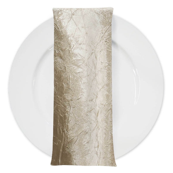 Crush Satin (Bichon) Table Napkin in Bone