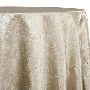 Crush Satin (Bichon) Table Linen in Bone