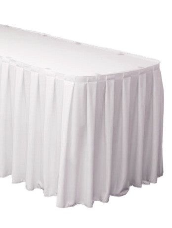Polyester Table Skirt Box Pleat Velcro