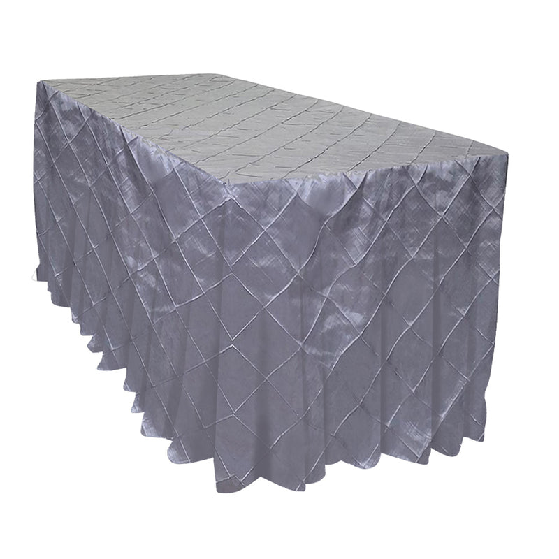 "4"" Pintuck Taffeta Banquet Fitted Tablecloths - Hospitality Line"