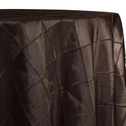 "4"" Pintuck Taffeta Table Linen in Brown 036"