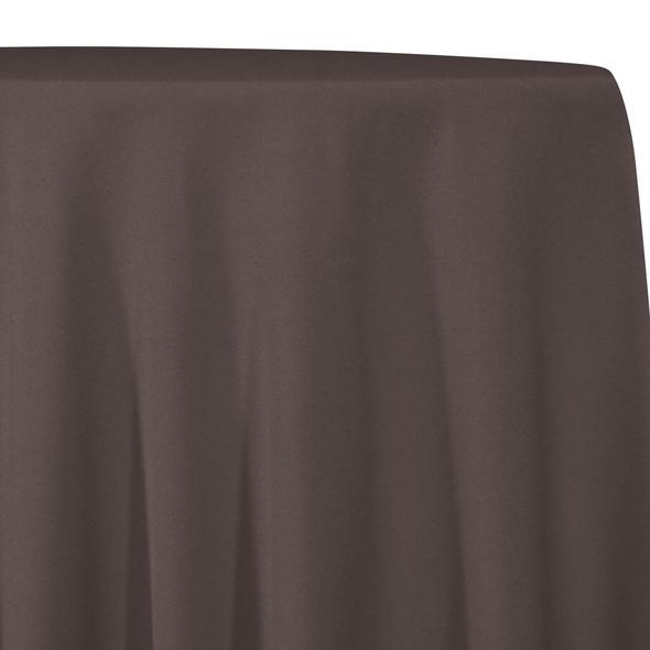 Chocolate Brown Tablecloth in Polyester for Weddings
