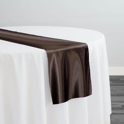 Lamour (Dull) Satin Table Runner in Brown 1266