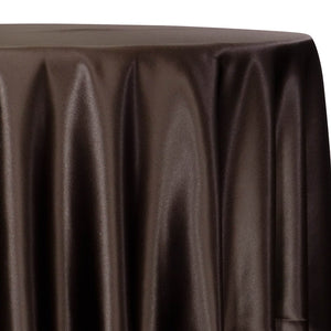 Lamour (Dull) Satin Table Linen in Brown 1266