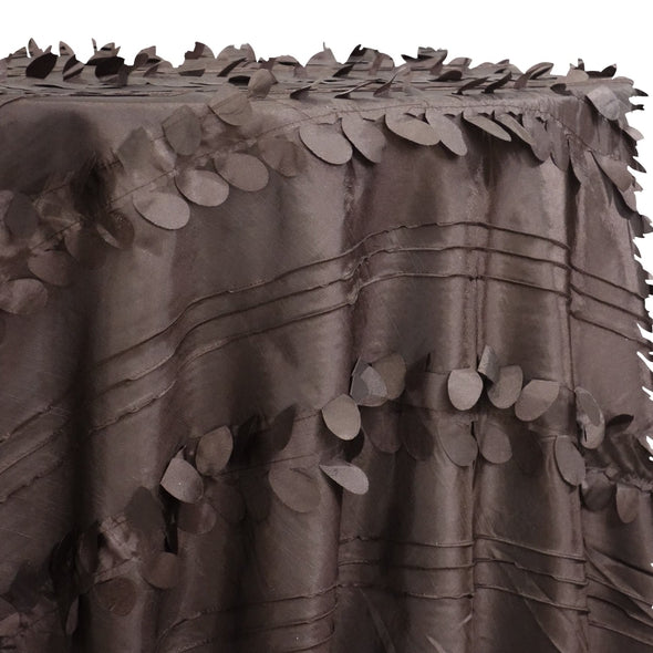 Diagonal Taffeta Table Linen in Brown