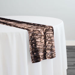 Austrian Wave Satin Table Runner in Brown