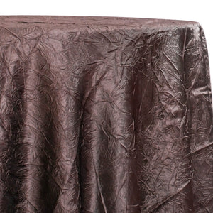 Crush Satin (Bichon) Table Linen in Brown 266