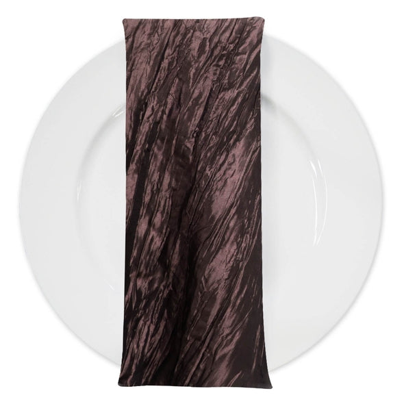Accordion Taffeta Table Napkin in Brown