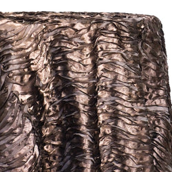 Austrian Wave Satin Table Linen in Brown